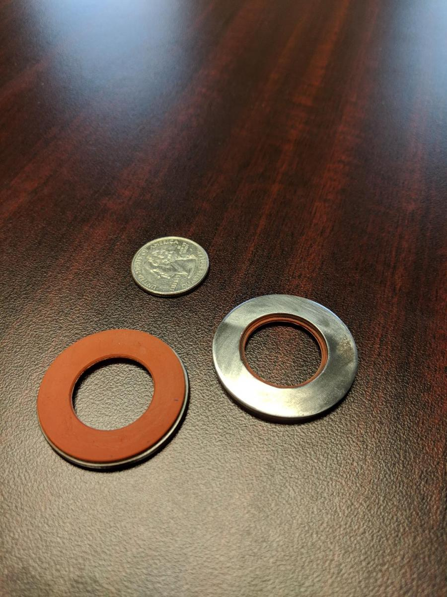 Metal to plastic, rubber, or silicon bonding